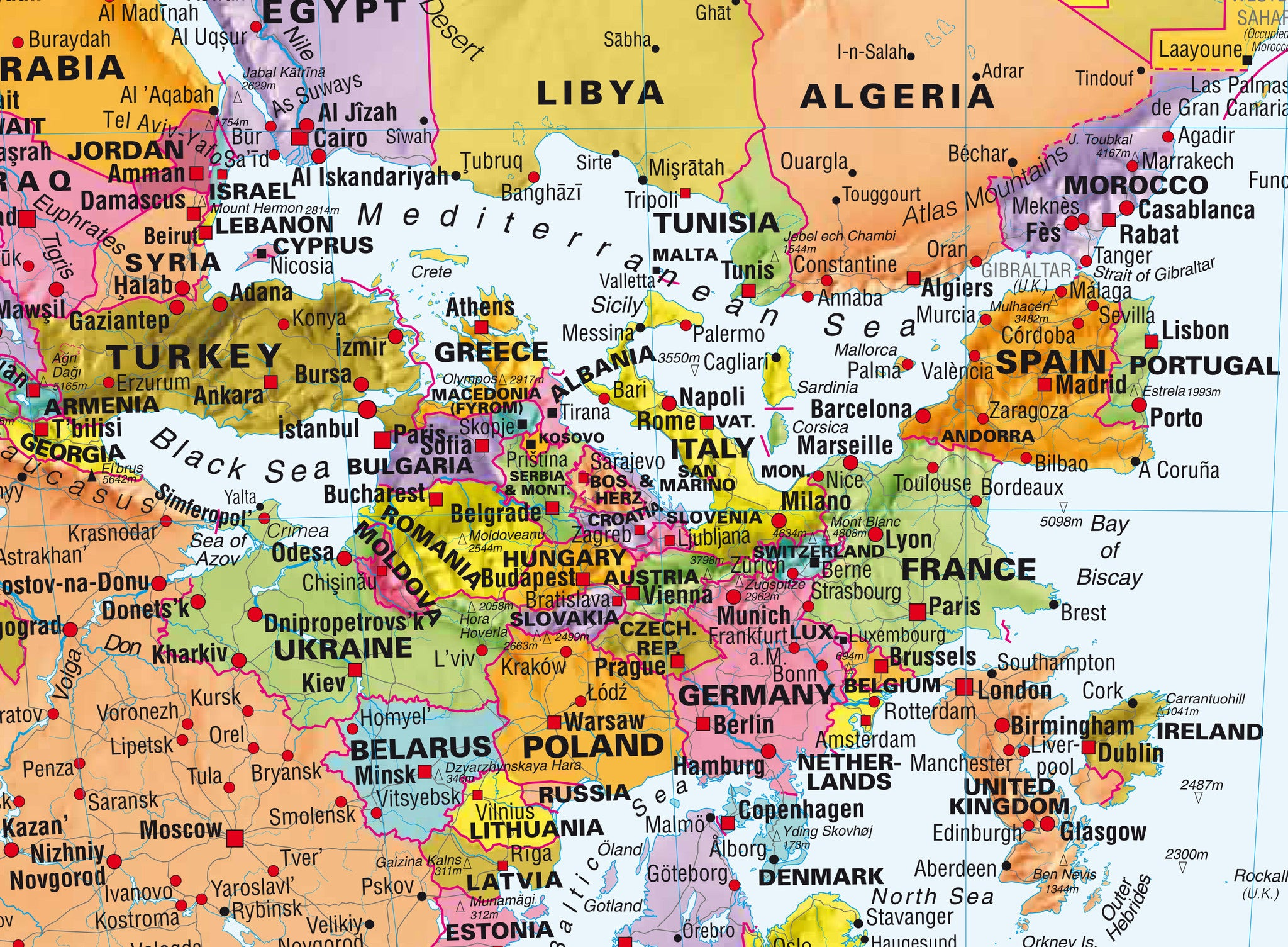 Upside down world map 1430 x 920mm laminated gumiabroncs Image collections