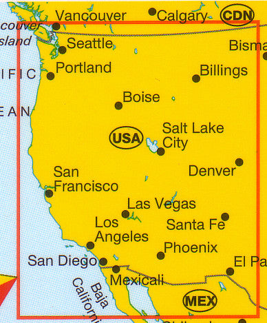 usa west marco polo buy map of western usa mapworld. Black Bedroom Furniture Sets. Home Design Ideas