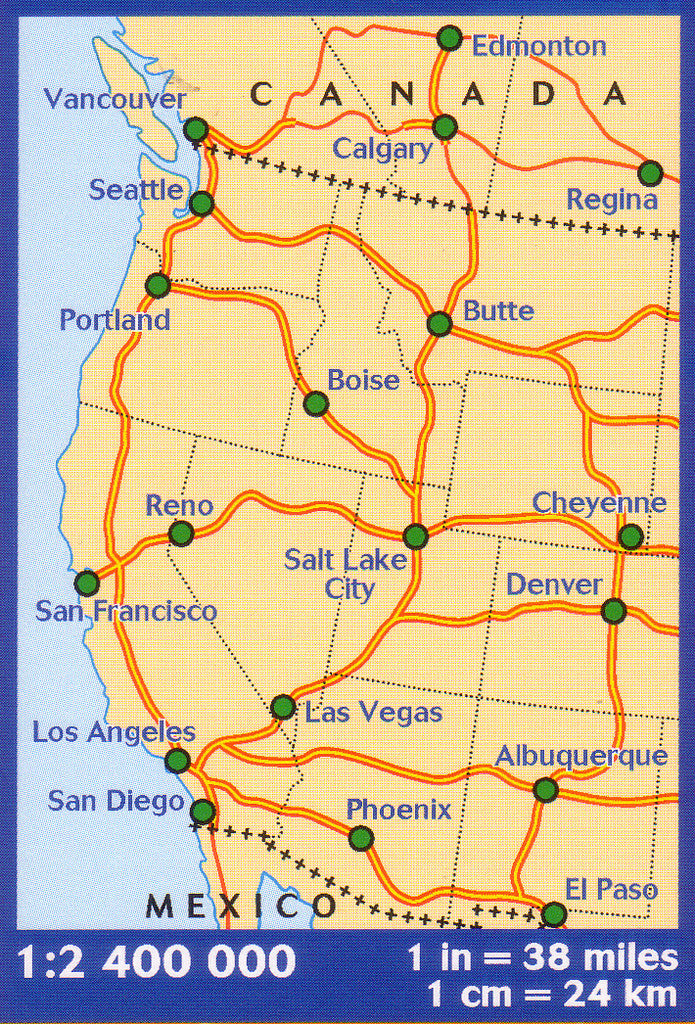 Map Of Western Canada And Usa Western USA & Western Canada Michelin, Buy Map of Western USA and