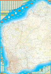 Western Australia Mega Map QPA 1440 x 2100mm Laminated Wall Map