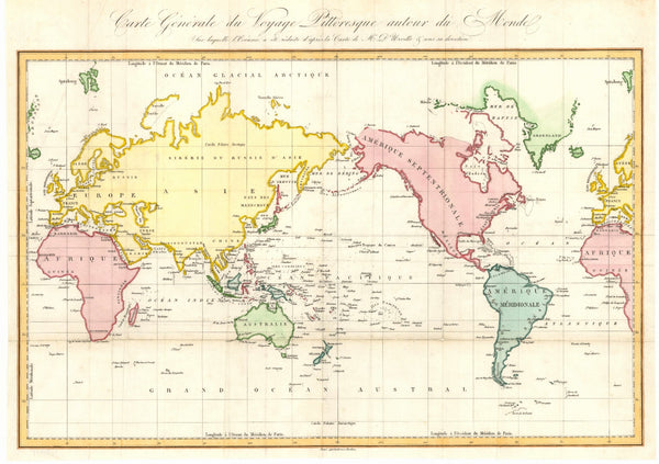 World Australia Centred (1834) Print