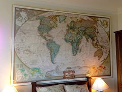 World Executive Antique Style National Geographic 2946 x 1930mm Mural 3 Sheet Wallpaper Map