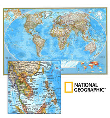 World Political Map by National Geographic