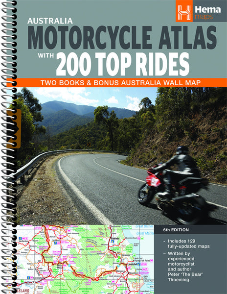 Australia Motorcycle Atlas 200 Top Rides