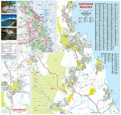 Cairns and Region Hema 730 x 700mm Laminated Wall Map