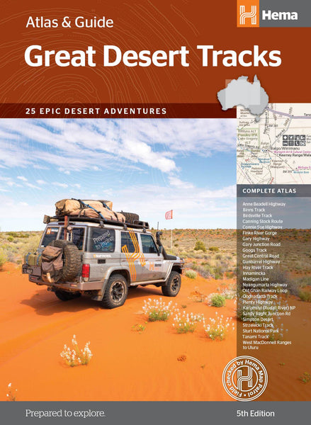 Great Desert Tracks Atlas & Guide A4 Spiral NEW 5th Edition