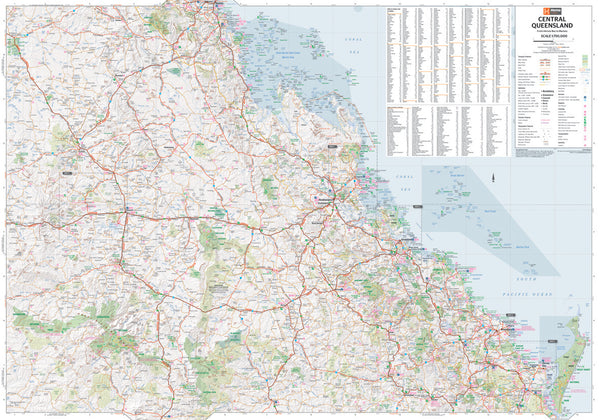Central Queensland Hema 950 x 560mm Laminated Wall Map