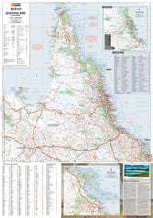 North Queensland Hema 700 x 1000mm Laminated Wall Map