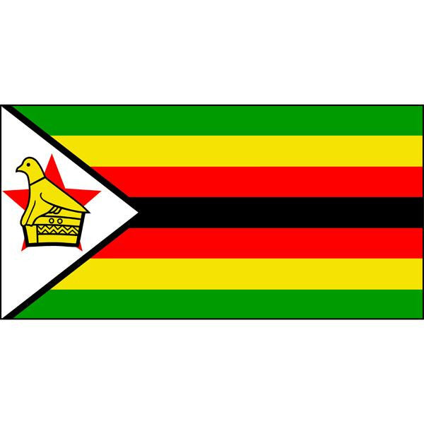 Zimbabwe Flag 1800 x 900mm