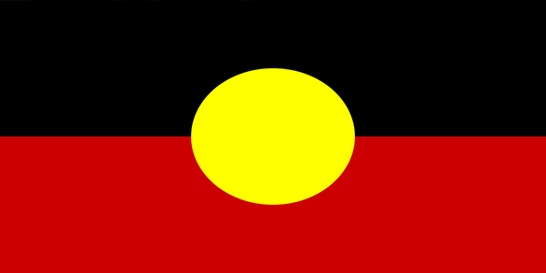 Aboriginal Flag with Sleeve (knitted) 1370 x 685mm