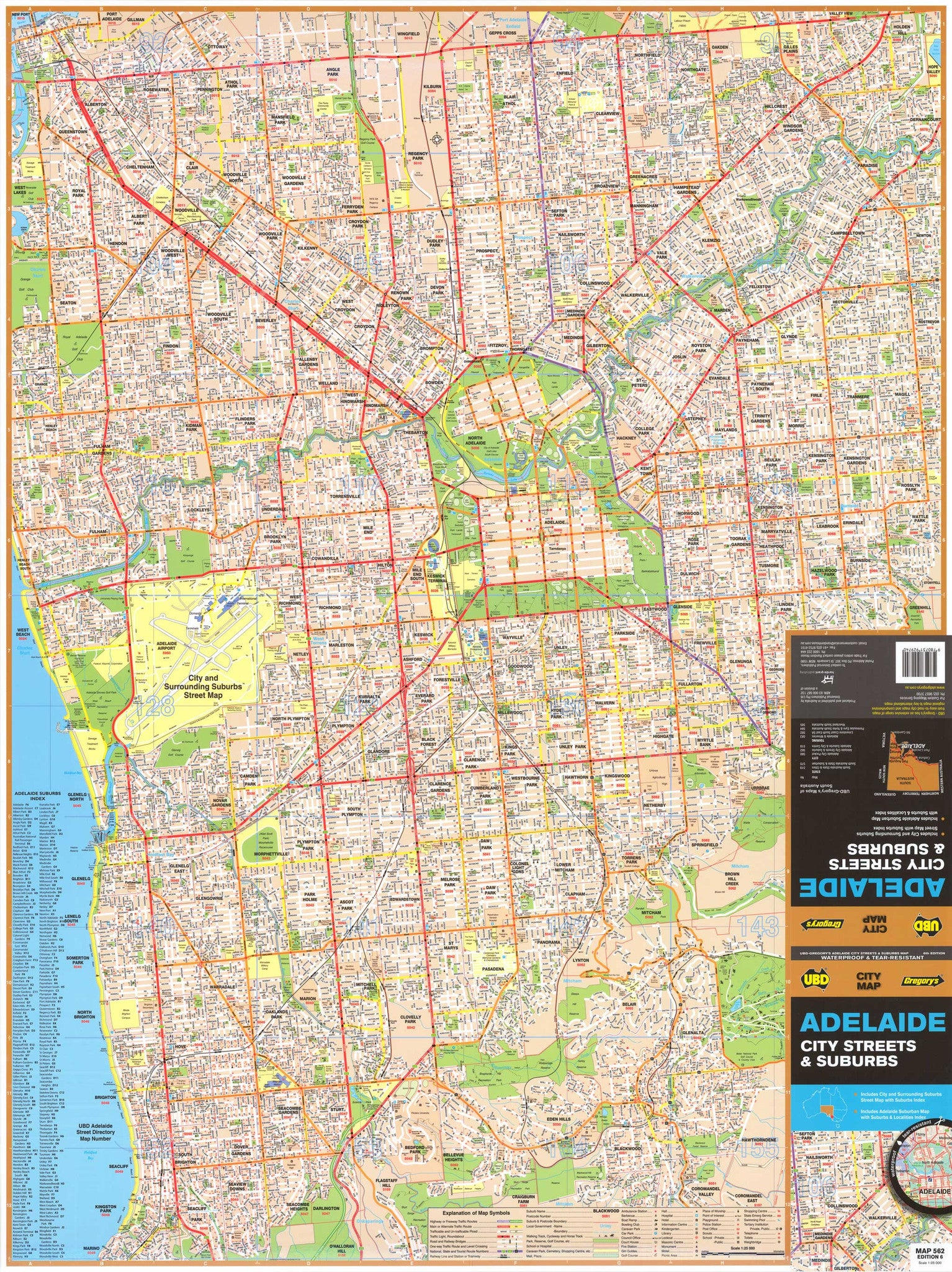 Adelaide Suburban Map UBD 562 - Map of Adelaide Suburns - Mapworld