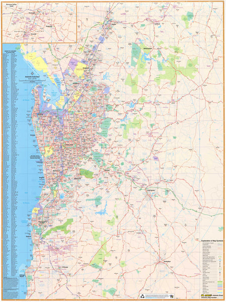 Camping World Concord >> Adelaide Suburban Map UBD 562 - Map of Adelaide Suburns - Mapworld