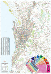 Adelaide & Region Hema 1000 x 1400mm Supermap Laminated Wall Map with Free Map Dots