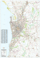 Adelaide & Region Hema 700 x 1000mm Laminated Wall Map with Hang Rails