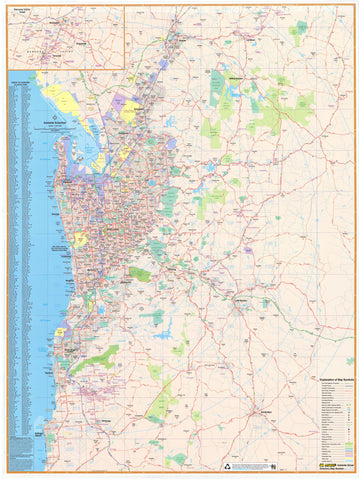 Mapworld south australia wall maps adelaide ubd map 690 x 1000mm framed gumiabroncs Choice Image