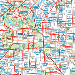 Adelaide & Region Hema 700 x 1000mm Paper Wall Map
