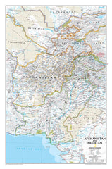 Afghanistan & Pakistan National Geographic 826 x 546mm Wall Map
