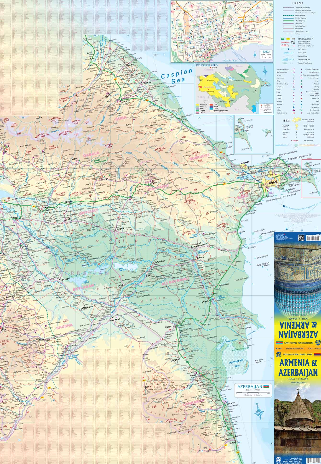 Armenia & Azerbaijan ITMB Map