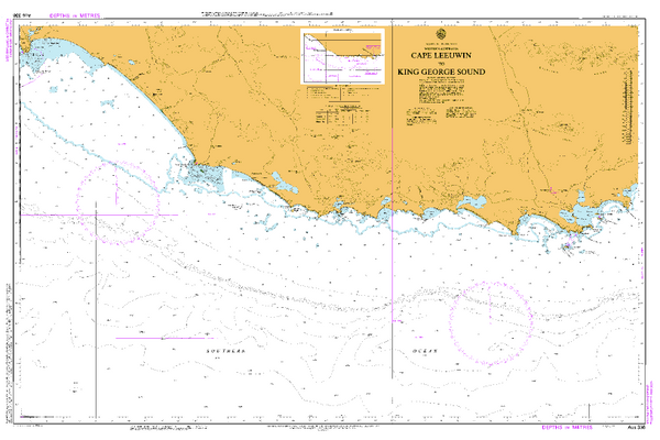 AUS 336 - Cape Leeuwin to King George Sound Nautical Chart
