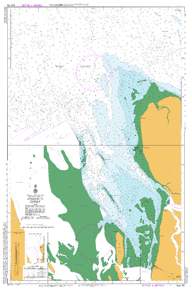 AUS 45 - Approaches to Derby Nautical Chart