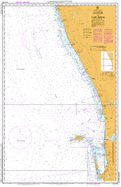 AUS 754 - Lancelin to Cape Peron Nautical Chart
