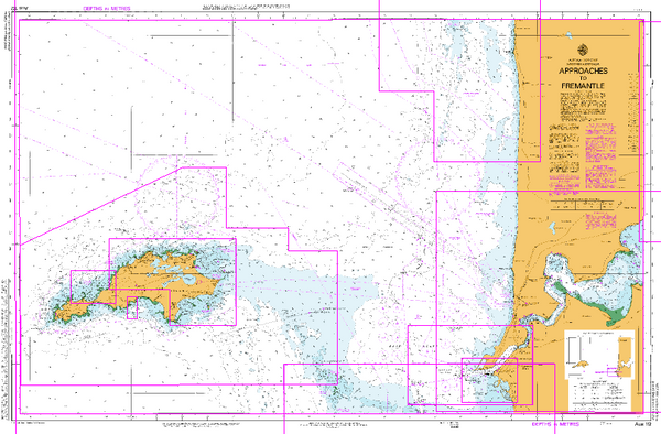 AUS 112 - Approaches to Fremantle Nautical Chart