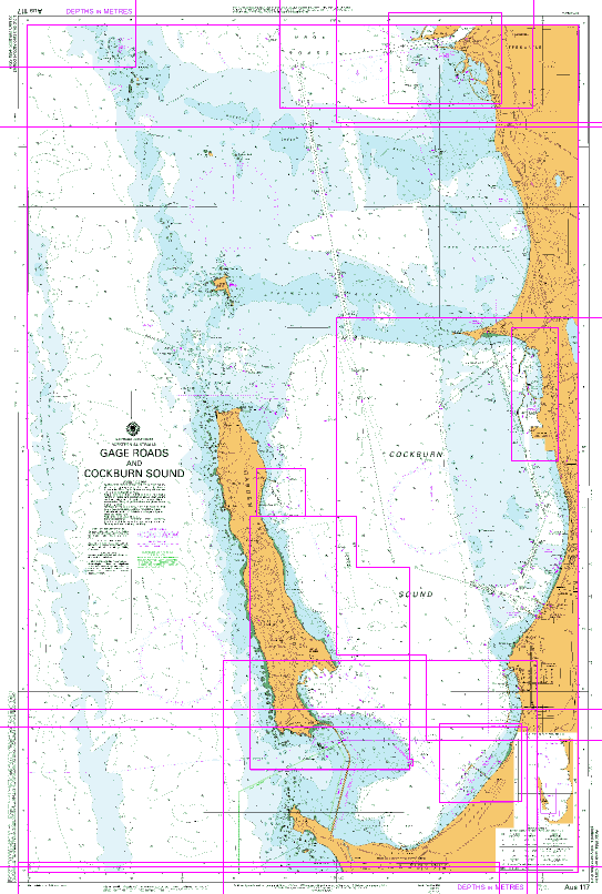 Australia West Coast Map.Aus 117 Gage Roads And Cockburn Sound Nautical Chart