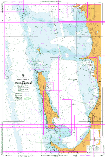 AUS 117 - Gage Roads and Cockburn Sound Nautical Chart
