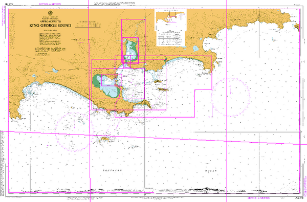 AUS 118 - Approaches to King George Sound Nautical Chart