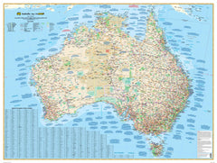 Australia 149 Gregory's Supermap 1480 x 1020mm Laminated