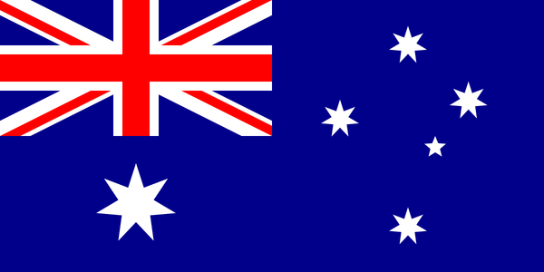 Australian National Flag with Sleeve (knitted) 1800 x 900mm