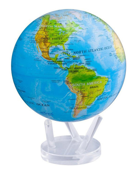 MOVA Globe Blue Ocean Relief Map - 8.5""