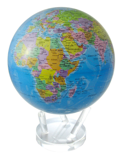 MOVA Globe Blue Ocean Political Map - 8.5""