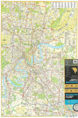 Brisbane UBD  462 Map 1380 x 2000mm Laminated Wall Map