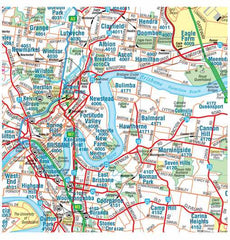 Brisbane & Region Hema 1000 x 1430mm Supermap Laminated Wall Map with Free Map Dots