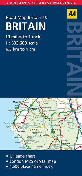 Road Map Of England And Scotland.Britain Aa Map 10
