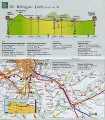 Way of St James Spain - Camino de Santiago Map Book Michelin 160