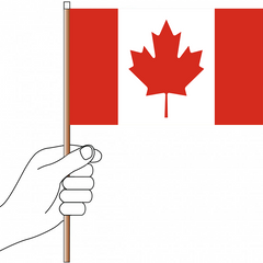 Canada Flag Handwaver - Knitted Polyester