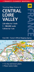 Central Loire Valley AA France Touring Map 8