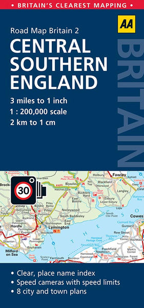 Central Southern England AA Road Map 2