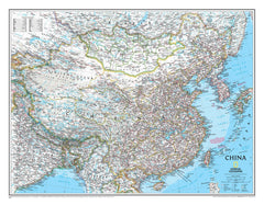 China National Geographic 770 x 600mm Wall Map
