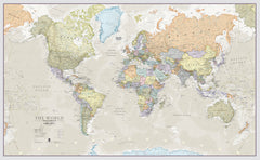Classic Maps International World 1364 x 844 mm Wall Map