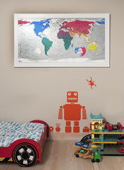 World Classic Map (Version 3) 1300 x 720mm Laminated