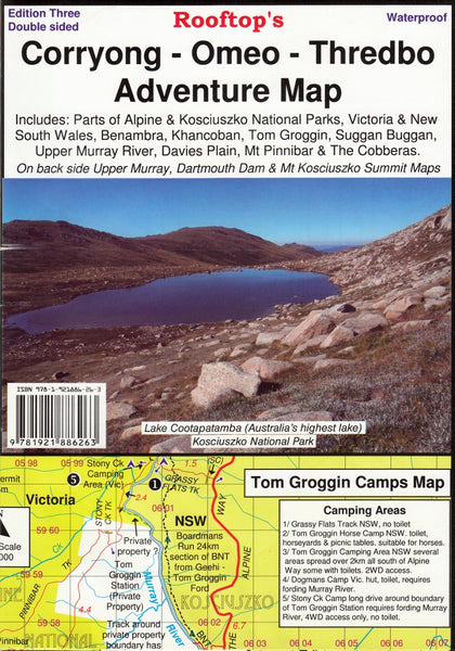 Corryong - Omeo - Thredbo Adventure Map Rooftop