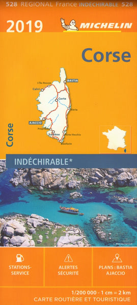 Corsica France 528 Michelin Map
