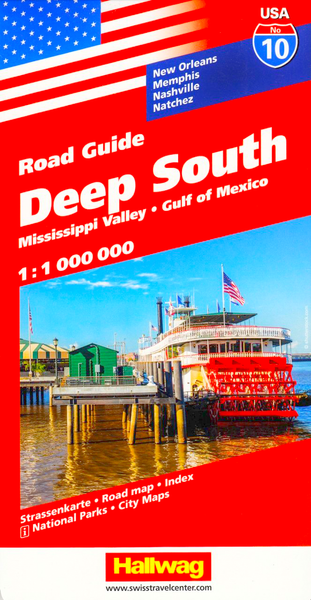 Deep South USA Hallwag Map