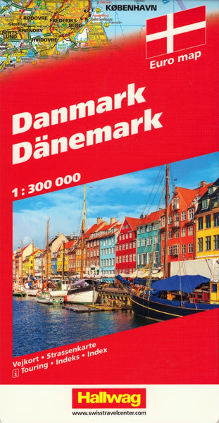 Denmark Hallwag Map
