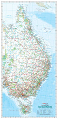 East Coast Australia 640 x 1400mm Laminated Wall Map