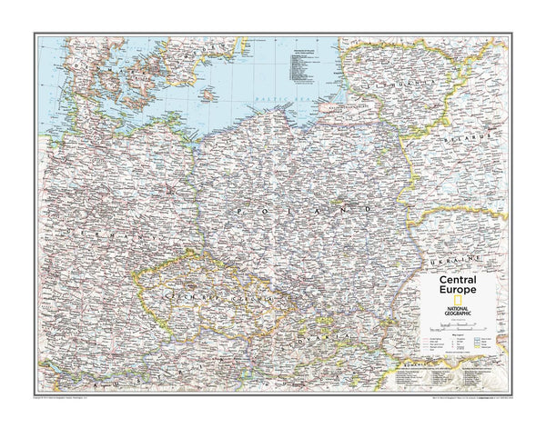 Central Europe Ngs Wall Map Buy Wall Map Of Europe Mapworld