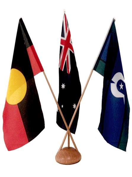 Australian / Aboriginal / TSI Desk Flag Set